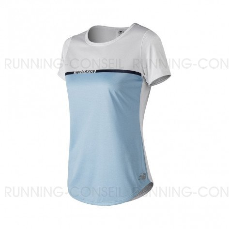 NEW BALANCE Tee-Shirt manches courtes PRINTED ACCELERATE v2 Femme | Air | Collection Printemps-Été SS2019