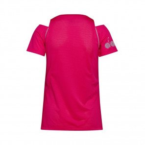 DIADORA MANCHES COURTES L. BRIGHT SUN LOCK T-SHIRT FEMME | RED VIRTUAL PINK