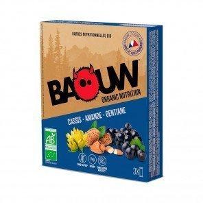 BAOUW Barres énergétiques bio | Cassis - Amande - Gentiane | Pack de 3