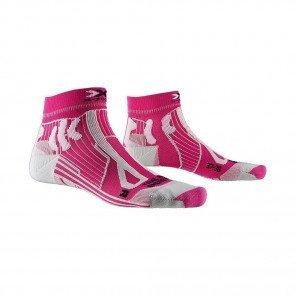 X-SOCKS Chaussettes Trail Run Energy Femme | Flamingo Pink / Pearl Grey