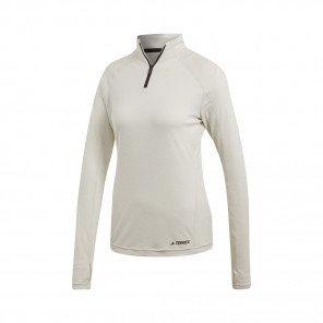 ADIDAS Tee-Shirt manches longues 1/2 Zip TRACEROCKER Femme | Blanc Brut