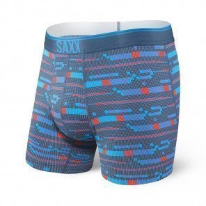 SAXX UNDERWEAR Quest boxer brief fly Homme | Blue Assembly Stripe