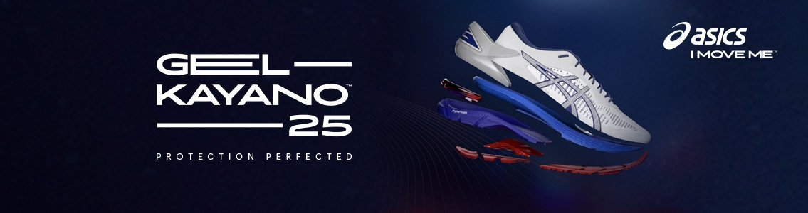 ASICS GEL-KAYANO 25 Homme | WHITE/BLUE PRINT